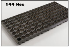 144 Cells EXcel- Solid Tray. Size 1.28